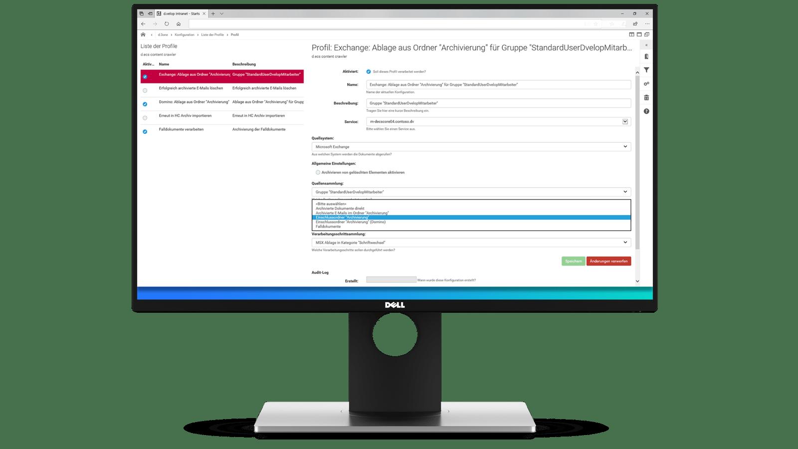 dvelop-e-mail-archivierung-administration